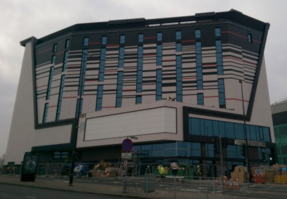 Hotel Football, Manchester from outside