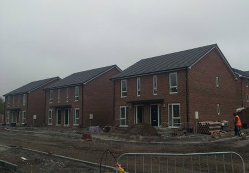 Page Lane, Widnes during the project