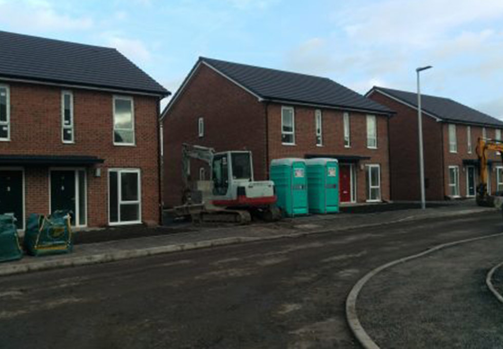 Page Lane, Widnes near completion