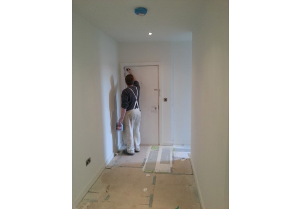 Stamford House, Altrincham being painted